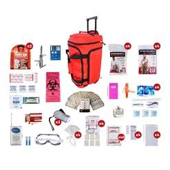 Deluxe Survival 4 Person Red Wheelbag
