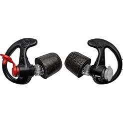 SureFire Comply Foam Tipped Filtered Earplugs Medium 25 Pair Black