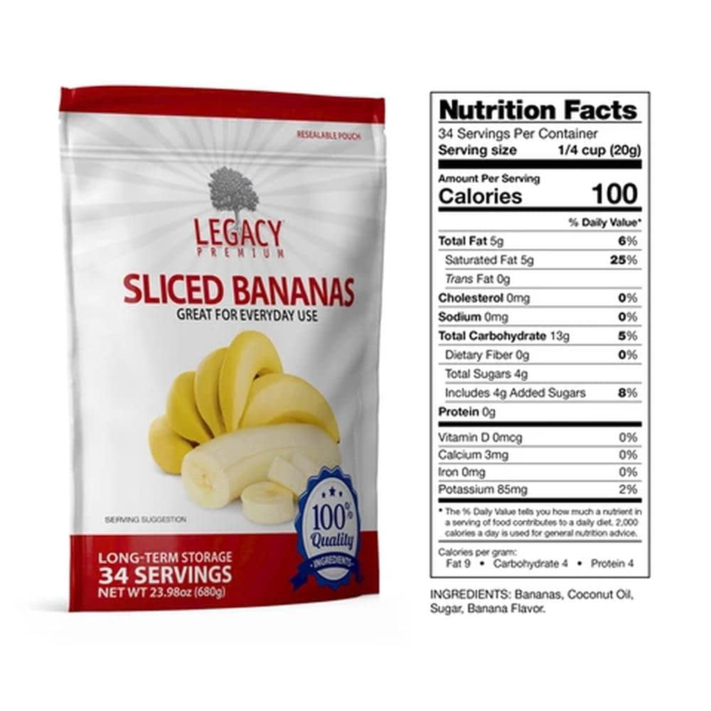 legacy bananas slices fact