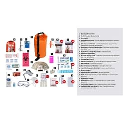 Deluxe Survival 2 Person Orange Drybag Description