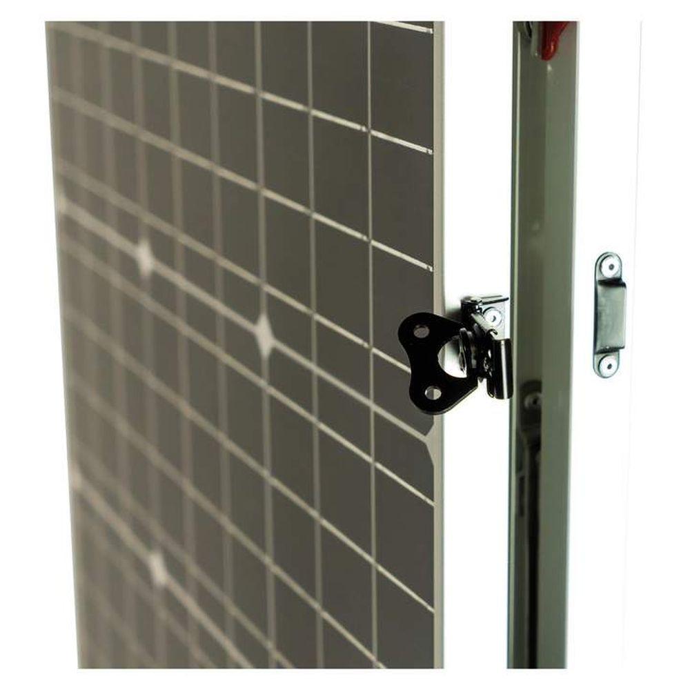 lion energy 100 watt folding solar panel side latch